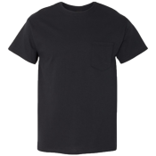 Mens 100% Cotton T-shirts Pocket T-shirts
