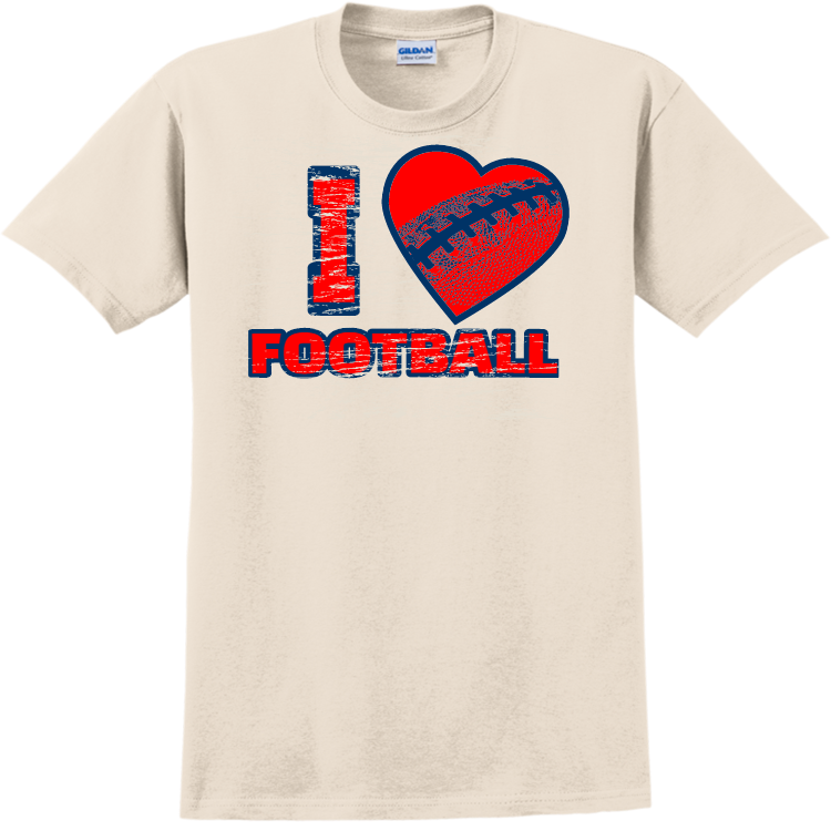 Football Fan T Shirtsadult 100 Cotton T Shirts Gildan 2000