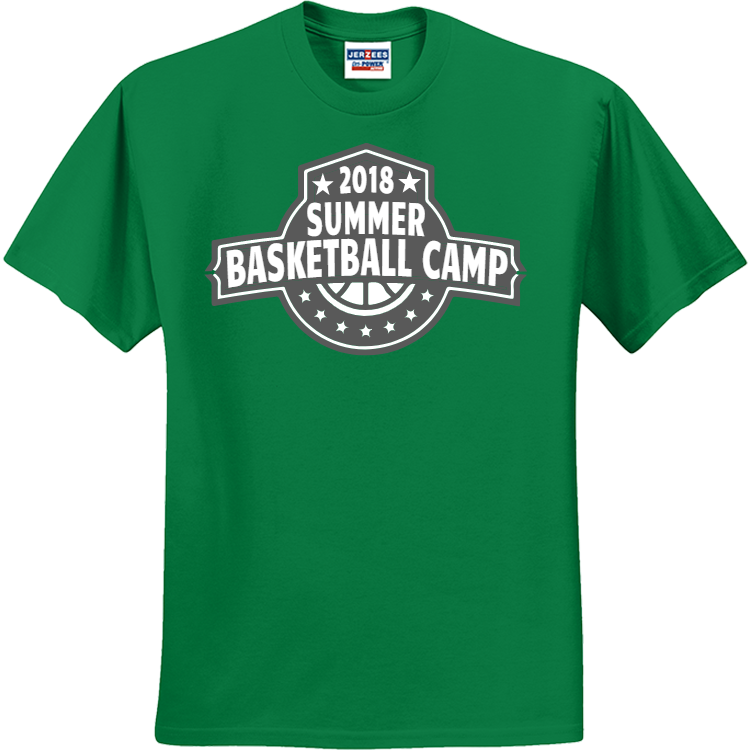 Basketball camp basketball t shirts for Athletic t shirt design ideas