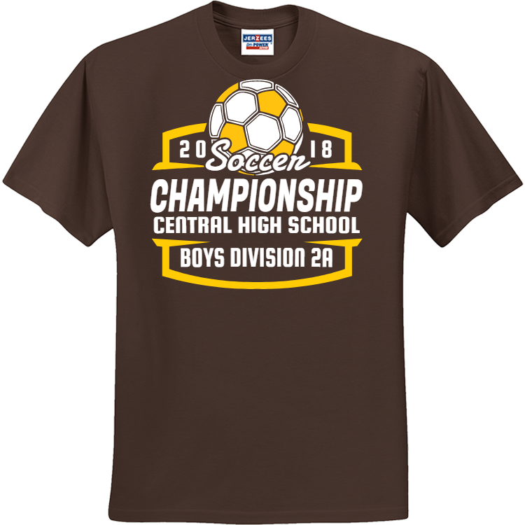 Soccer championship soccer t shirts for Athletic t shirt design ideas