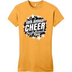 10th annual cheer invitational 2019 cheerleading t shirts Junior's 100% Cotton T-Shirts District Threads DT6001