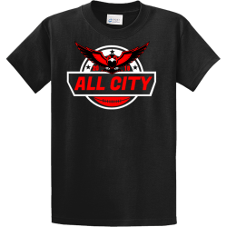 All-City-Football Men's 100% Cotton T-Shirts Port And Company PC61