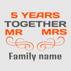 5 Years Together - Anniversary T-shirts