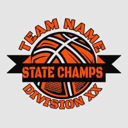 basketball state champs template t shirts