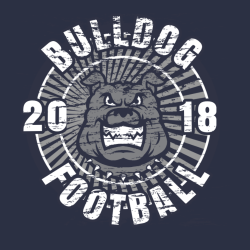 Bulldog Football T Shirts