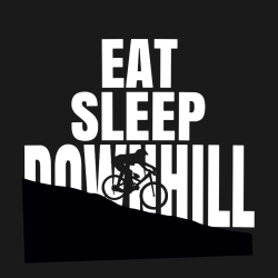 Eat Sleep Downhill - Biking T-shirts