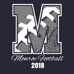 Letter M Football T Shirts