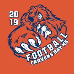 carvers bay hs football 2019 teamwear t shirts