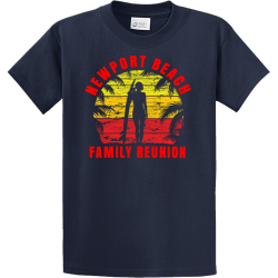 Beach-Family-Vacation-T-Shirts Men's 100% Cotton T-Shirts Port And Company PC61