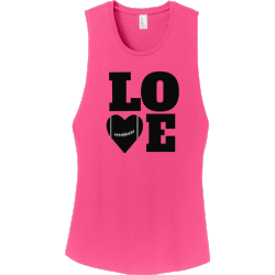 LOVE-FOOTBALL-Tank-Tops Junior's 100% Cotton Tank Tops District Threads DT6301