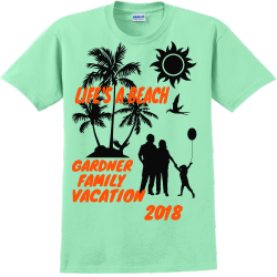 Life's A Beach Family Vacation1 T-shirts