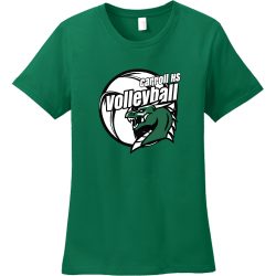 carroll hs volleyball t shirts Women's 100% Cotton T-Shirts Anvil 880