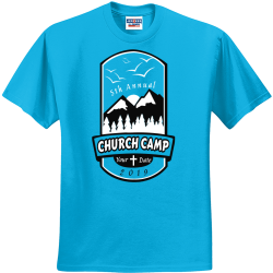 church camp t shirts designs Men's 50/50 Cotton/Polyester T-Shirts Jerzees 29M