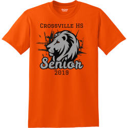 crossville hs senior 2019 senior class pride t shirts Men's 50/50 Cotton/Polyester T-Shirts Gildan 8000