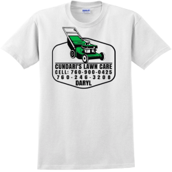 cundaris lawn care landscaping t shirts Adult 100% Cotton T-Shirts Gildan 2000