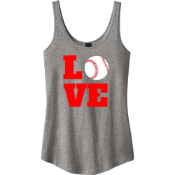 love-baseball-Tank-Tops Junior's 100% Cotton Tank Tops District Threads DT2500