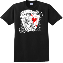 poker party t shirts designs Adult 100% Cotton T-Shirts Gildan 2000