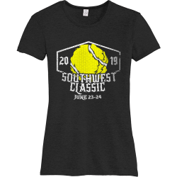 southwest classic tennis t shirts Women's 50/50 Cotton/Polyester T-Shirts Alternative AA5052