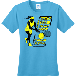 tennis summer camp tennis t shirts Women's 100% Cotton T-Shirts Port And Company LPC150