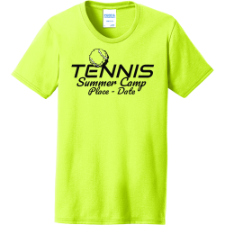 tennis summer camp tennis t shirts Women's 50/50 Cotton/Polyester T-Shirts Port And Company LPC55