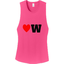 Love-Raw Junior's 100% Cotton Tank Tops District Threads DT6301