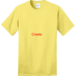 Create Adult 100% Cotton T-Shirts Port And Company PC150