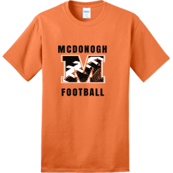 FOOTBALL-MCDONOGH Adult 100% Cotton T-Shirts Port And Company PC150