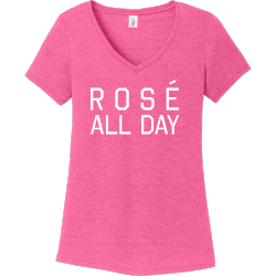 Rose-All-Day MAY THE MAMBO  BE WITH US ... Women's 50/50 Cotton/Polyester T-Shirts District Threads DM1350L