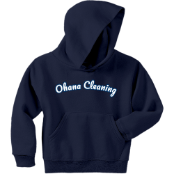Ohana-Cleaning-kids Boy's 50/50 Cotton/Polyester Hoodies Jerzees 996Y