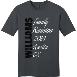Family-Reunion-2018-Austin-TX BRIDGES Family Reunion 19 Men's 100% Cotton T-Shirts District Threads DT6000