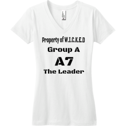 Property-of-W.I.C.K.E.D-Group-A-A7-The-Leader Junior's 100% Cotton T-Shirts District Threads DT5501