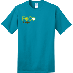 foco-cafe Adult 100% Cotton T-Shirts Port And Company PC150