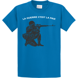 LA-GUERRE-CEST-LA-PAIX PROPERTY OF XXL HIALEAH Men's 100% Cotton T-Shirts Port And Company PC61