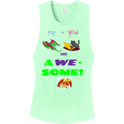 me--you----A-WE---SOME Junior's 100% Cotton Tank Tops District Threads DT6301