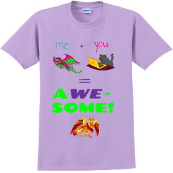 me-you-----A-WE---SOME Adult 100% Cotton T-Shirts Gildan 2000