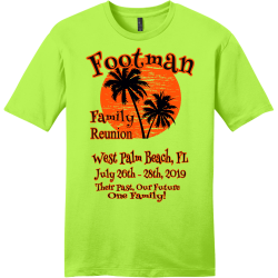Footman-Reunion--Their-Past-Our-Future--West-Palm-Beach-FL-July-26th---28th-2019-Family-One-Family BRIDGES Family Reunion 19 Men's 100% Cotton T-Shirts District Threads DT6000