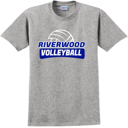 VOLLEYBALL-RIVERWOOD Adult 100% Cotton T-Shirts Gildan 2000