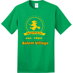 Salem-Village-Broomstick-Co.-est.-1692 make hialeah great again Adult 100% Cotton T-Shirts Port And Company PC150