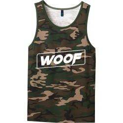 WOOF-Camo OUTERLIMIT   outerlimit2018 Mens 100% Cotton Tank Tops District Threads DT1500