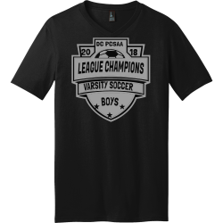 DC-PCSAA-LEAGUE-CHAMPIONS--VARSITY-SOCCER-20-18--BOYS Men's 100% Cotton T-Shirts District Threads DT5500