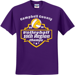 Volleyball-10th-Region--20-18--Champs-Campbell-County Youth Group - Youth Group T-shirts