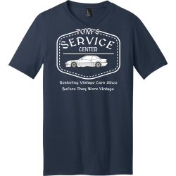 CENTER-SERVICE-Restoring-Vintage-Cars-Since-Before-They-Were-Vintage-TOMS Men's 100% Cotton T-Shirts District Threads DT5500