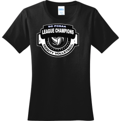 DC-PCSAA-LEAGUE-CHAMPIONS-VARSITY-VOLLEYBALL-20-18 Women's 100% Cotton T-Shirts Port And Company LPC150