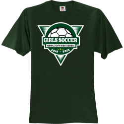 GIRLS-SOCCER---2018---2019-TEMPLE-CITY-HIGH-SCHOOL Unisex 100% Cotton T-Shirts Fruit Of The Loom 3930