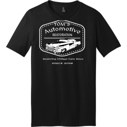 RESTORATION-Automotive-Restoring-Vintage-Cars-Since-SINCE-2018-TOMS Men's 100% Cotton T-Shirts District Threads DT5500