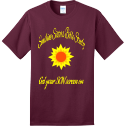 SONSHINE-SISTERS Adult 100% Cotton T-Shirts Port And Company PC150