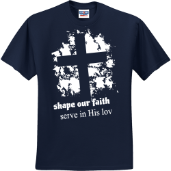 shape-our-faith-serve-in-His-love Youth Group - Youth Group T-shirts