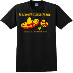 BarstonShlifka-Family---MEXICAN-VACATION-2018 Catopolis Adult 100% Cotton T-Shirts Gildan 2000