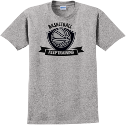 BASKETBALL-KEEP-TRAINING Catopolis Adult 100% Cotton T-Shirts Gildan 2000