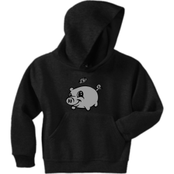 Pig Design Boy's 50/50 Cotton/Polyester Hoodies Jerzees 996Y